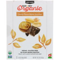 Raw Revolution, Organic, Chunky Peanut Butter Chocolate, 12 Bars, 1.6 oz (46 g) Each Pozostałe