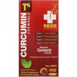 Redd Remedies, Curcumin T4, Spearmint, 60 Chewable Tablets Biografie, wspomnienia