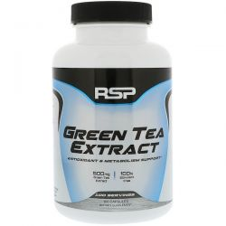 RSP Nutrition, Green Tea Extract, Antioxidant & Metabolism Support, 500 mg, 100 Capsules