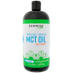 Zenwise Health, Caprylic (C8) + Capric (C10) MCT Oil, 100% Coconut, Unflavored, 32 fl oz (946 ml)