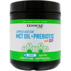 Zenwise Health, Caprylic Acid (C8) MCT Oil + Prebiotic with GoMCT, 15.87 oz (450 g)