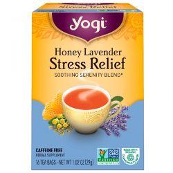 Yogi Tea, Honey Lavender Stress Relief, Caffeine Free, 16 Tea Bags, 1.02 oz (29 g) Biografie, wspomnienia