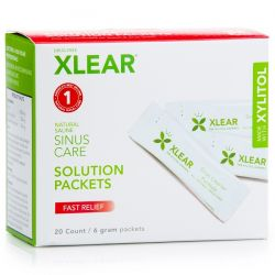 Xlear, Sinus Care Solution Packets, Fast Relief, 20 Count, 6 g Each