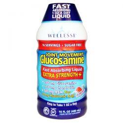 Wellesse Premium Liquid Supplements, Joint Movement Glucosamine, Natural Berry Flavor, 16 fl oz (480 ml) Pozostałe