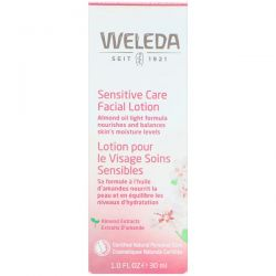 Weleda, Sensitive Care Facial Lotion, Almond Extracts, Sensitive & Combination Skin, 1.0 fl oz (30 ml)