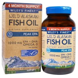 Wiley's Finest, Wild Alaskan Fish Oil, Peak EPA, 1250 mg, 120 Fish Softgels Pozostałe
