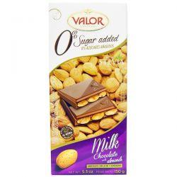 Valor, 0% Sugar Added, Milk Chocolate with Almonds, 5.3 oz (150 g) Biografie, wspomnienia
