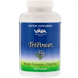 Vaxa International, TriPower, Weight Formula + Diet Plan, 180 VegCaps