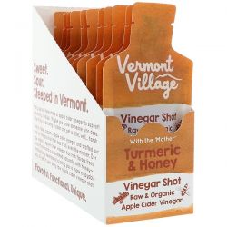 Vermont Village, Organic, Apple Cider Vinegar Shot, Tumeric & Honey, 12 Pouches, 1 oz (28 g) Each Biografie, wspomnienia