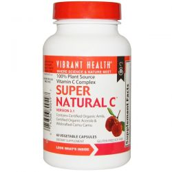 Vibrant Health, Super Natural C, Version 3.1, 60 Veggie Caps Biografie, wspomnienia