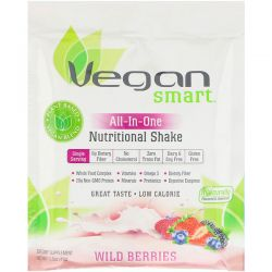 VeganSmart, All-In-One Nutritional Shake, Wild Berries, 1.5 oz (43 g) Biografie, wspomnienia