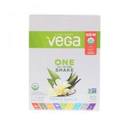Vega, One, All-in-One Shake, French Vanilla, 10 Packs, 1.4 oz (38 g) Each Pozostałe