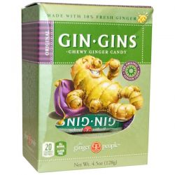 The Ginger People, Gin · Gins, Chewy Ginger Candy, 4.5 oz (128 g) Biografie, wspomnienia