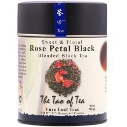 The Tao of Tea, Sweet & Floral Blended Black Tea, Rose Petal Black, 4 oz (115 g)