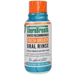TheraBreath, Fresh Breath Oral Rinse, Invigorating Icy Mint Flavor, 3 fl oz (88.7 ml) Pozostałe