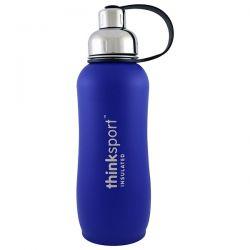 Think, Thinksport, Insulated Sports Bottle, Blue, 25 oz (750ml) Biografie, wspomnienia
