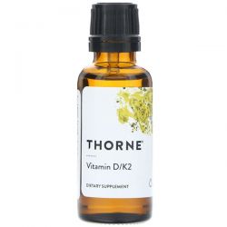 Thorne Research, Vitamin D/K2, 1 fl oz (30 ml) Pozostałe