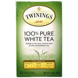 Twinings, 100% Pure White Tea, 20 Tea Bags, 1.06 oz (30 g) Each Pozostałe