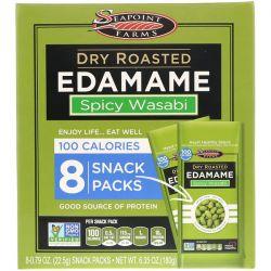 Seapoint Farms, Dry Roasted Edamame, Spicy Wasabi, 8 Snack Packs, 0.79 oz (22.5 g) Each Biografie, wspomnienia