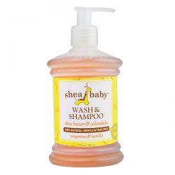 Shea Baby Shea Mama, Wash & Shampoo, Tangerine & Vanilla, 10 fl oz (296 ml) Pozostałe