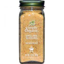 Simply Organic, Grilling Seasons, Seafood, Organic, 2.2 oz (62 g) Pozostałe