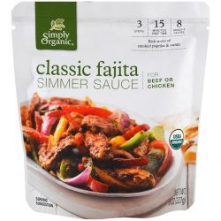 Simply Organic, Organic Simmer Sauce, Classic Fajita, For Beef or Chicken, 8 oz (227 g) Biografie, wspomnienia