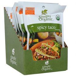 Simply Organic, Spicy Taco Seasoning, 12 Packets, 1.13 oz (32 g) Each Biografie, wspomnienia