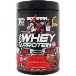 Six Star, Six Star Pro Nutrition, 100% Whey Protein Plus, Elite Series, Triple Chocolate, 2 lbs (907 g)