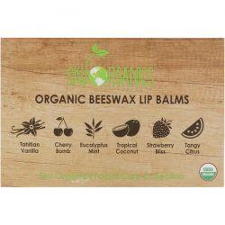 Sky Organics, Organic Beeswax Lip Balms Set, 6 Pack, .15 oz (4.25 g) Each Pozostałe