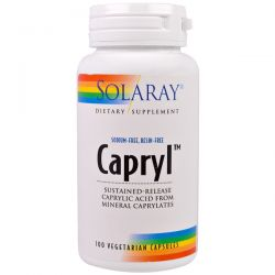 Solaray, Capryl, Sustained-Release, 100 Veggie Caps