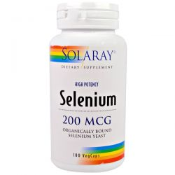 Solaray, Selenium, 200 mcg, 100 VegCaps