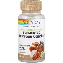 Solaray, Organically Grown Fermented Mushroom Complete, 600 mg, 60 VegCaps