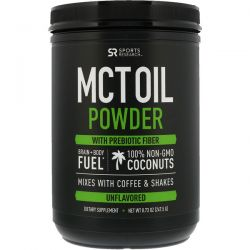 Sports Research, MCT Oil Powder with Prebiotic Fiber, Unflavored, 8.73 oz (247.5 g) Biografie, wspomnienia