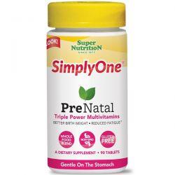 Super Nutrition, SimplyOne, PreNatal, Triple Power Multivitamins, 90 Tablets Biografie, wspomnienia