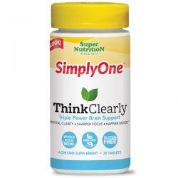 Super Nutrition, SimplyOne, Think Clearly, 30 Tablets Zdrowie i Uroda