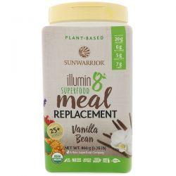 Sunwarrior, Illumin8, Plant-Based Organic Superfood Meal Replacement, Vanilla Bean, 1.76 lb (800 g) Zdrowie i Uroda