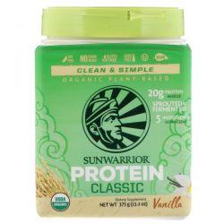 Sunwarrior, Classic Protein, Organic Plant-Based, Vanilla, 13.2 oz (375 g) Zdrowie i Uroda