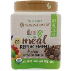 Sunwarrior, Illumin8, Plant-Based Organic Superfood Meal Replacement, Mocha, 14.1 oz (400 g) Zdrowie i Uroda