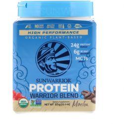 Sunwarrior, Warrior Blend Protein, Organic Plant-Based, Mocha, 13.2 oz (375 g) Zdrowie i Uroda