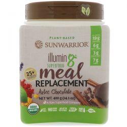 Sunwarrior, Illumin8, Plant-Based Organic Superfood Meal Replacement, Aztec Chocolate, 14.1 oz (400 g) Zdrowie i Uroda
