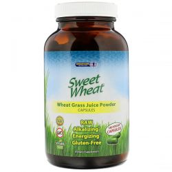 Sweet Wheat, Wheat Grass Juice Powder, 180 Vegan Capsules Pozostałe