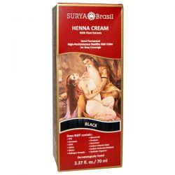 Surya Henna, Henna Cream, Hair Color and Conditioner, Black, 2.37 fl oz (70 ml) Zdrowie i Uroda