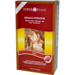 Surya Henna, Henna Powder, Natural Hair Coloring and Hair Treatment, Red, 1.76 oz (50 g) Zdrowie i Uroda