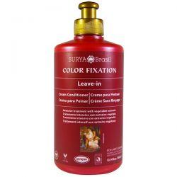 Surya Henna, Color Fixation, Leave-In Cream Conditioner, 10.14 fl oz (300 ml) Zdrowie i Uroda