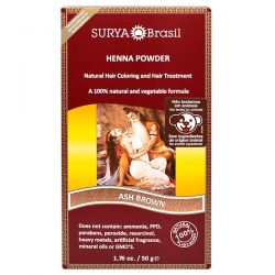 Surya Henna, Henna Powder, Natural Hair Coloring and Hair Treatment, Ash Brown, 1.76 oz (50 g) Zdrowie i Uroda