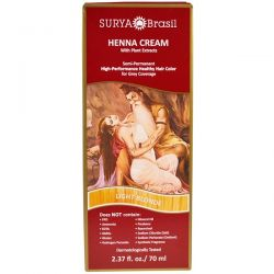 Surya Henna, Henna Cream, High-Performance Healthy Hair Color for Grey Coverage, Light Blonde,  2.37 fl oz (70 ml) Zdrowie i Uroda