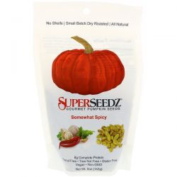 SuperSeedz, Gourmet Pumpkin Seeds, Somewhat Spicy, 5 oz (142 g) Zdrowie i Uroda