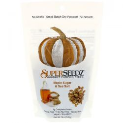 SuperSeedz, Gourmet Pumpkin Seeds, Maple Sugar & Sea Salt, 5 oz (142 g) Zdrowie i Uroda