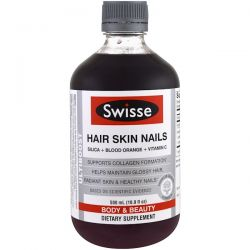 Swisse, Ultiboost, Hair Skin Nails (Silica + Blood Orange + Vitamin C), 16.9 fl oz (500 ml) Zdrowie i Uroda
