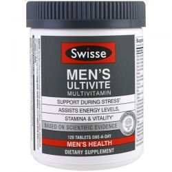 Swisse, Mens Ultivite Multivitamin, Men's Health, 120 Tablets Zdrowie i Uroda
